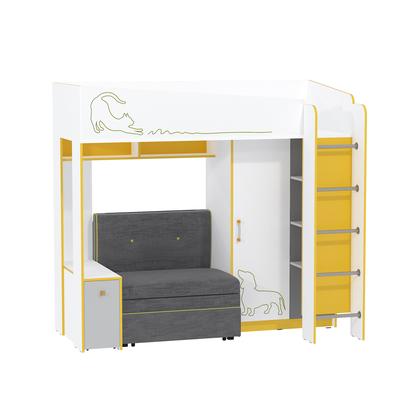 Кровать с диваном Альфа 11.20 солнечный свет